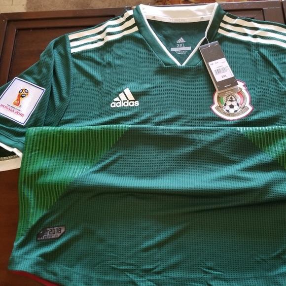 buy online 93170 0300a Adidas Mexico 2018 Jersey Men's XXL